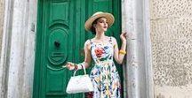 "My Style Recipe / Feminine + Elegant Chic style with a retro vibe. ""Film star on holiday"""