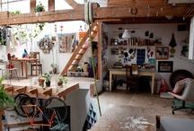 art studio inspiration / by Kelly Berkey Paintings
