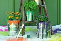 Garden Inspiration / gardens, plant pots, outdoor lighting