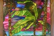 Glass Works / Stained glass, glass bottles, blown glass and art of glass.  #glass #art / by Colleen Shimkoski