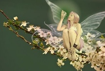 """Fairies / There's something completely magical about fairies.  I love this quote from Lynn Holland, """"Fairies are invisible and inaudible like angels.  But their magic sparkles in nature."""""""