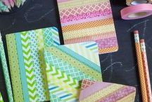 Washi Tape Crafts / Washi tape can make anything beautiful.  I love all the crafts you can make from this decorative tape.