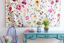 F A B - F L O R A L S / Modern floral prints - home decor and interior design  / by Jill Brandenburg