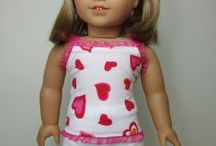 American Girl doll - PJ's and slippers / by Margaret Johnson/GiGi's Doll Creations