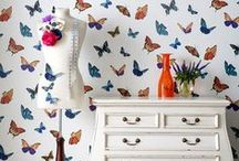 F L U T T E R T A S T I C / Butterfly, bird and bee home decor and interior design / by Jill Brandenburg