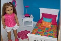 AG Doll bedding / Bedding for the 18 inch dolls / by Margaret Johnson/GiGi's Doll Creations