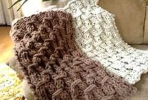 Knit Afghans and Blankets / Who doesn't need more blankets? This board of knitted afghan patterns will get you knitting warm blankets in no time! / by Knitting Daily