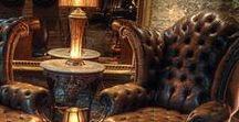 Interior & Man Cave / Classic interior design & man cave ideas