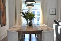 At home: a new dinning-room.