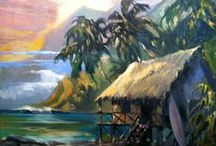 Paintings of Polynesia / Polynesia is a favorite spot for Wade to paint. Here are some of his choicest picks.