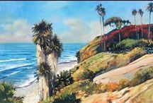 California Ocean Paintings / Impressionistic paintings of San Diego and up and down the Cali Coast!