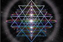 Sacred Geometry φ Φ / Sacred Geometry is all about holographic patterns of form that are fundamental to physical structure.  From the smallest atom or subatomic state to the largest galaxy, the underlying mathematical rules are consistent.  / by Diane Jensen