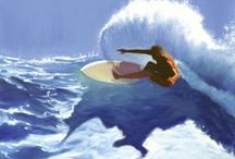 Surf Paintings / Ah the surf! Wave and surf paintings by Wade Koniakowsky.