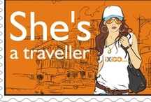 She's A Traveller / iXiGO dedicates this week to all the women who love to travel, who dream to travel and some who actually live to travel #She'sATraveller