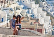 Dreaming of Santorini / We are in LOVE with gorgeous Santorini holiday homes.