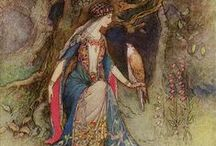 Art of Fairy Tale & Myth / Our Grandmother gave me each year a new book from the Andrew Lang's Fariy Books of Many Colors. We also had  Beatrix Potter and the Grimm Brothers.  That got me started on a life long love of such books.  Hope you enjoy the beautiful art as well. / by Diane Jensen
