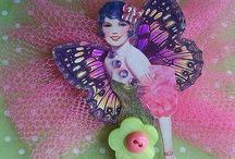 Button Fairy's & Ribbon dolls