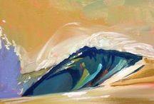 "Mini Wave Paintings / Oil on canvas paintings , 5x7""- 8x10""."