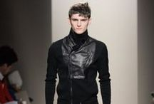 Men's Leather Fashions / by Fashionisto