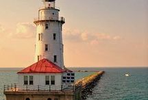 { lighthouses ♥ } / by Ashley Lejuerrne