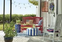 Red, White and Blue Americana by Country Door / Show your patriotism with pride! Celebrate America–indoors and out–with stirring red, white & blue home accents and décor. / by Country Door