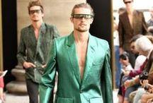 Men's Metallic Fashions / by Fashionisto
