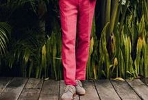 Men's Style - Colored Pants / by Fashionisto