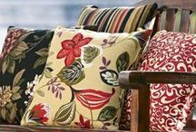 Outdoor Cushions and Pillows / Portable comfort! Outdoor pillows and cushions help create cozy-comfy seating on a deck, porch, patio or lawn.