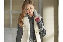 Comfortable Style and Warmth by Country Door / Look and feel your best in comfy-cozy clothing fashioned to go anywhere and inspire confidence.