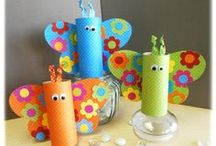 Toilet Paper Roll Crafts / Toilet paper roll crafts are a great way to teach your kids to reuse and recycle! #crafts #preschoolcrafts