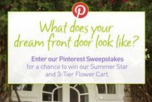 Country Door's Front Door Sweepstakes / Country Door's Front Door Pinterest Sweepstakes! What does your dream front door look like? Enter for a chance to win our Summer Star and 3-Tier Flower Cart! Enter Now! #CountryDoorSweepsEntry www.countrydoor.com/pinterestsweeps