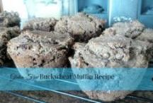 Wheat, Sugar, Dairy-Free Baking / Recipes that are suitable for AIP, gluten-free diets. Many of these are also eggless recipes. Rice flour, buckwheat flour, oatmeal and spelt flour muffins, quickbreads, yeast breads, and even desserts!