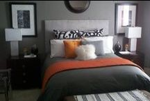 House- Bedroom n' Progress / I'm guessing from my posts my bedroom is going to be Orange, Grey, White & Black!!! Working on downsizing & redoing our bedroom!!! #onlywhatyoulove #livesimply / by Designing Your Dream -barb