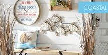 """Coastal Decor / Coastal flair that pops - Create a light and breezy home that whispers """"summer"""" all year round."""