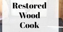 Repurposed Wood Cook Stoves / Repurposed wood cook stoves are making a comeback in homesteads everywhere. #woodcookstoves #repurposedwoodcookstoves #antiquewoodstoves