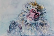 Watercolor:  Animals 2 / Watercolor Animals / by Junell Toney