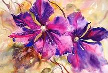 Watercolor:  Flowers 9 / Watercolor Flowers / by Junell Toney