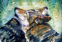 Watercolor:  Animals 6 / Watercolor Animals / by Junell Toney