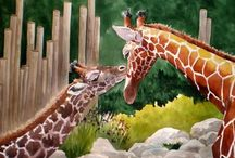Watercolor:  Animals 7 / Watercolor Animals / by Junell Toney