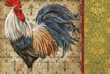 Hen - Rooster Art 3 / by Junell Toney