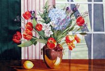 Watercolor:  Still Life / Floral 4 / by Junell Toney