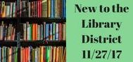 11/27/17 New Book List / Items new to the library system