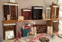 Design | Vintage, Flea Market, and Craft Show Booth Ideas / Now that I'm doing more vintage flea markets I need lots of ideas to fill my 5'x10' to 10'x15' spaces!  I like a rustic look with lots of wood and metal.  Crates, drawers, pipes, and more.  Always looking for ways to display jewelry, too. / by Ann @ Duct Tape and Denim