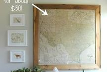 Love | Maps & Globes in Home Decor / I collect vintage maps and globes.  This board is full of ideas of how to display and use them in your home decor.