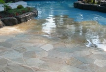 Pools and other water features