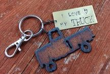 My Jewelry | Purse Charms & Key Fobs / I sell these in my Etsy shop - http://DuctTapeAndDenim.etsy.com .  But I can also turn any of my necklaces into purse charms or key fobs.  I can add a personalized hand-stamped tag for you, too. / by Ann @ Duct Tape and Denim
