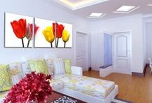 Home Decor with Masterpiece of Canvas / Custom canvas print is the best idea to decor home in lowest price. Here you enjoy 3 panel custom canvas print. you can decor your home with flower canvas printing. / by Canvas Champ