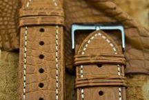 Croco bracelets - Barenia Straps for watches & more / Maurice de Mauriac Straps & Bracelets / by Maurice de Mauriac - Zurich Watches