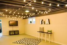 Unfinished Basement Ideas / Ideas for upgrading one's basement without the high remodeling costs. / by Mom Home Guide