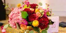 Red, Orange, & Fuchsia Wedding